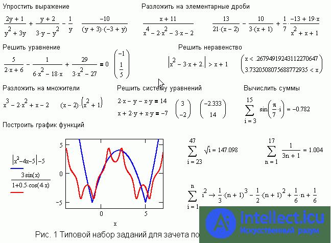 Реализация решения задачи в mathcad решение задач алгебраических неравенств